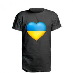 Подовжена футболка Серце патріота