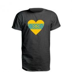 Удлиненная футболка Серце України - FatLine