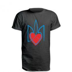 Удлиненная футболка Серце з гербом