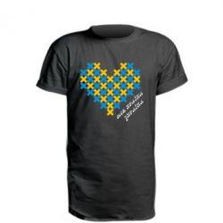 Удлиненная футболка Серце з хрестиків