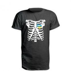 Подовжена футболка Скелет з серцем Україна