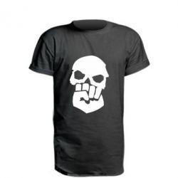 Удлиненная футболка Skull and Fist