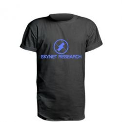Удлиненная футболка Skynet Research - FatLine