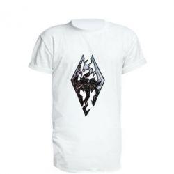 Удлиненная футболка Skyrim Logo
