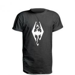 Удлиненная футболка Skyrim - FatLine