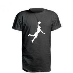 Удлиненная футболка Slam dunk