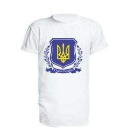 Удлиненная футболка Слава Україні! (вінок) - FatLine