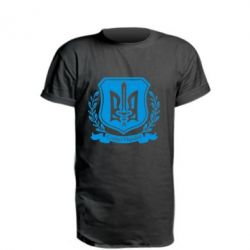 Удлиненная футболка Слава Україні (вінок)