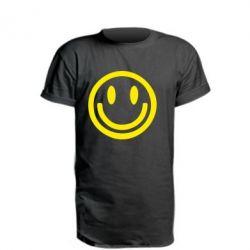 Подовжена футболка Смайлик