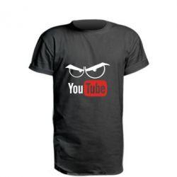 Удлиненная футболка Смотрю ютюб