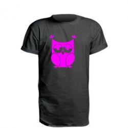 Удлиненная футболка Сова