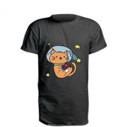 Купить Удлиненная футболка Space Cat, FatLine