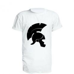 Удлиненная футболка Spartan helmet