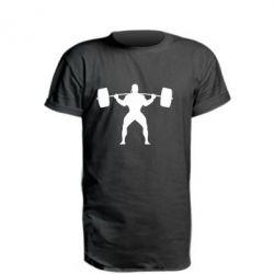 Подовжена футболка Спортсмен зі штангою