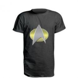 Подовжена футболка Star Trek Gold Logo - FatLine