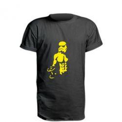 Удлиненная футболка Star Wars с гантелей