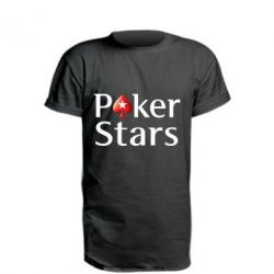 Подовжена футболка Stars of Poker - FatLine
