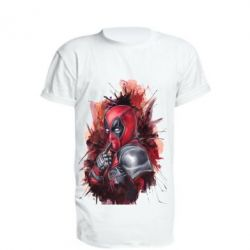 Удлиненная футболка Стесняшка Deadpool, FatLine  - купить со скидкой
