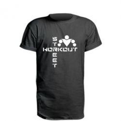 Удлиненная футболка Street Workout крест