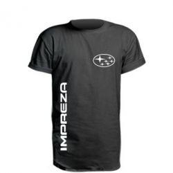 Купить Удлиненная футболка Subaru Impreza, FatLine