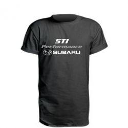 Подовжена футболка Subaru STI