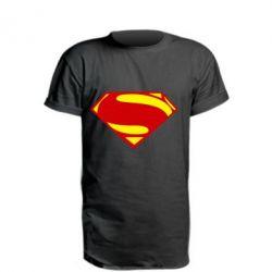 Купить Удлиненная футболка Superman Человек из стали, FatLine