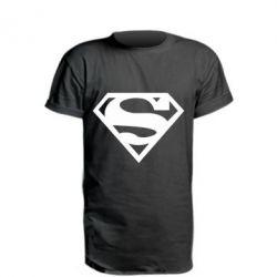 Удлиненная футболка Superman одноцветный