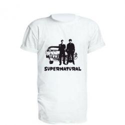 Купить Удлиненная футболка Supernatural Братья Винчестеры, FatLine