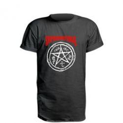 Удлиненная футболка Supernatural круг - FatLine