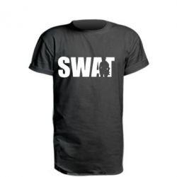 Удлиненная футболка SWAT
