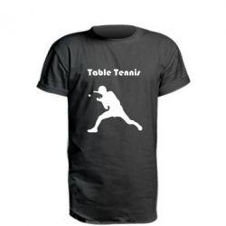 Подовжена футболка Table Tennis Logo