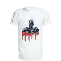 Удлиненная футболка Терминатор Т-800
