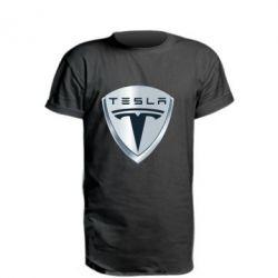 Удлиненная футболка Tesla Corp