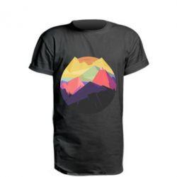 Удлиненная футболка The mountains Art