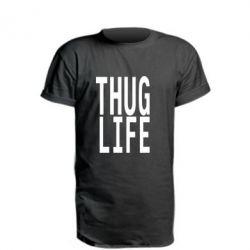 Удлиненная футболка thug life