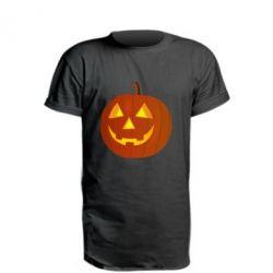 Подовжена футболка Тыква Halloween