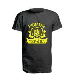 Удлиненная футболка Україна ненька
