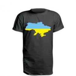 Удлиненная футболка Украина - FatLine
