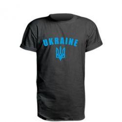 Подовжена футболка Ukraine + герб
