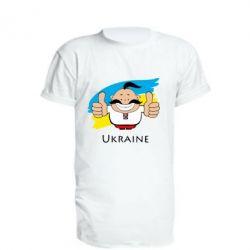 Удлиненная футболка Ukraine kozak