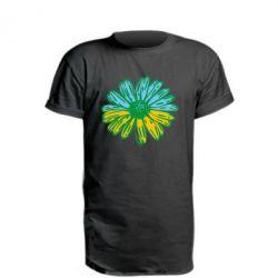 Удлиненная футболка Українська квітка