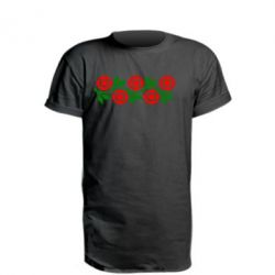 Удлиненная футболка Українська вишивка - FatLine