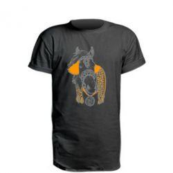 Удлиненная футболка Українській кінь - FatLine