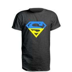 Удлиненная футболка Український Superman - FatLine