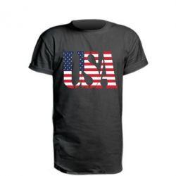 Подовжена футболка USA
