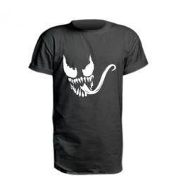 Удлиненная футболка Venom Silhouette - FatLine