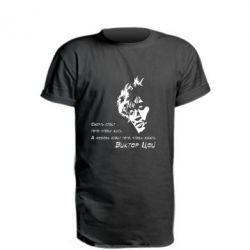 Удлиненная футболка Виктор Цой