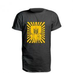 Удлиненная футболка Військо українське - FatLine