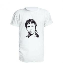Удлиненная футболка Владимир Высоцкий портрет