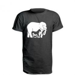 Удлиненная футболка все в одном